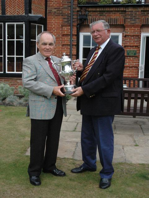 Lionel and Paul with the<br /> <br /> Charles Singer Trophy