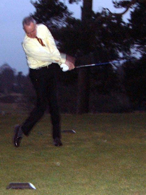 Peter Batchelor Drives in<br /> <br /> Well it was nearly dark!