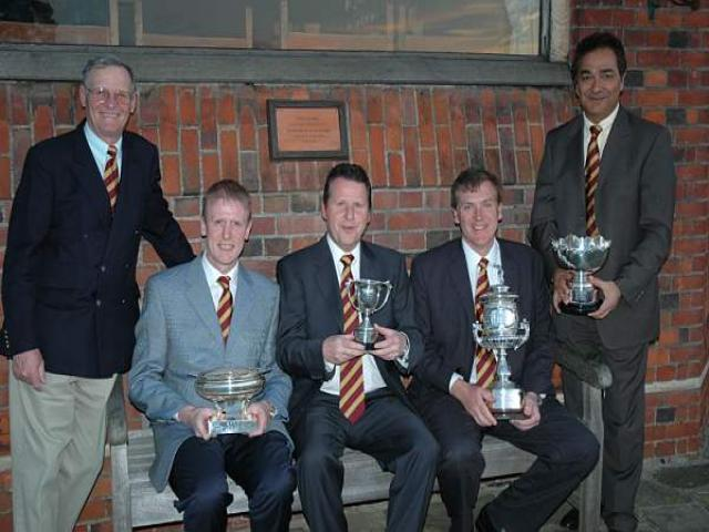 L to R - Golf Manager, Sam Burton, Peter Featherstone, Charles Slaughter and Vipen Khanna