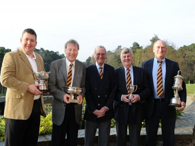 Trophy Winners left to right<br /> <br /> John Hammond, Godfrey Hall, Ray Fisher, James Crickmay, Tony Ash